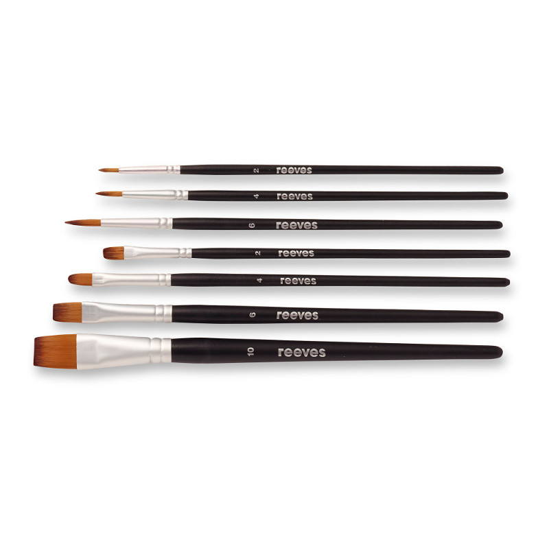Syntetpenselset Reeves Complete brush set (SH) watercolour (6F)