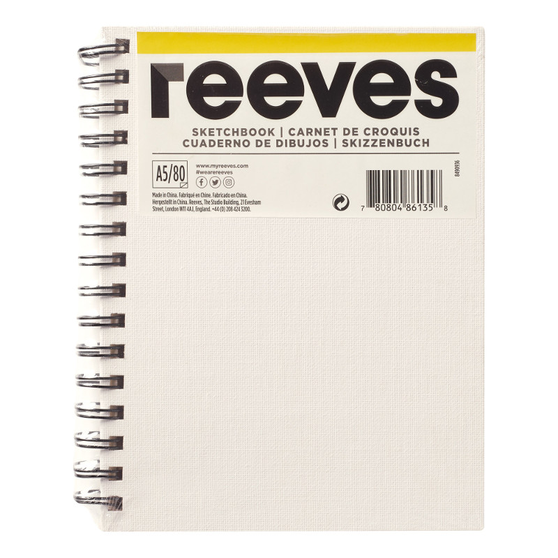 Skissbok Reeves A5 CANVAS  (48F)