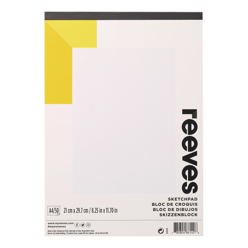 Ritblock Reeves Drawing/Sketching pad A4 150g 12ark (6F)