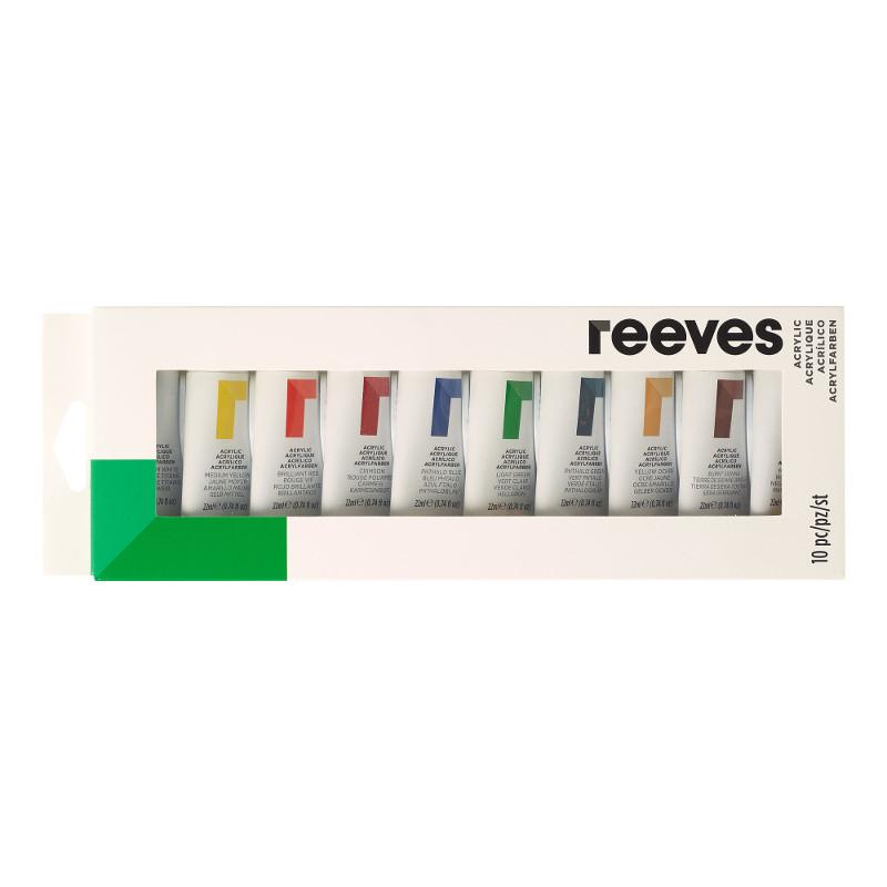 Akrylfärgset Reeves Akrylset 10 x 22 ml