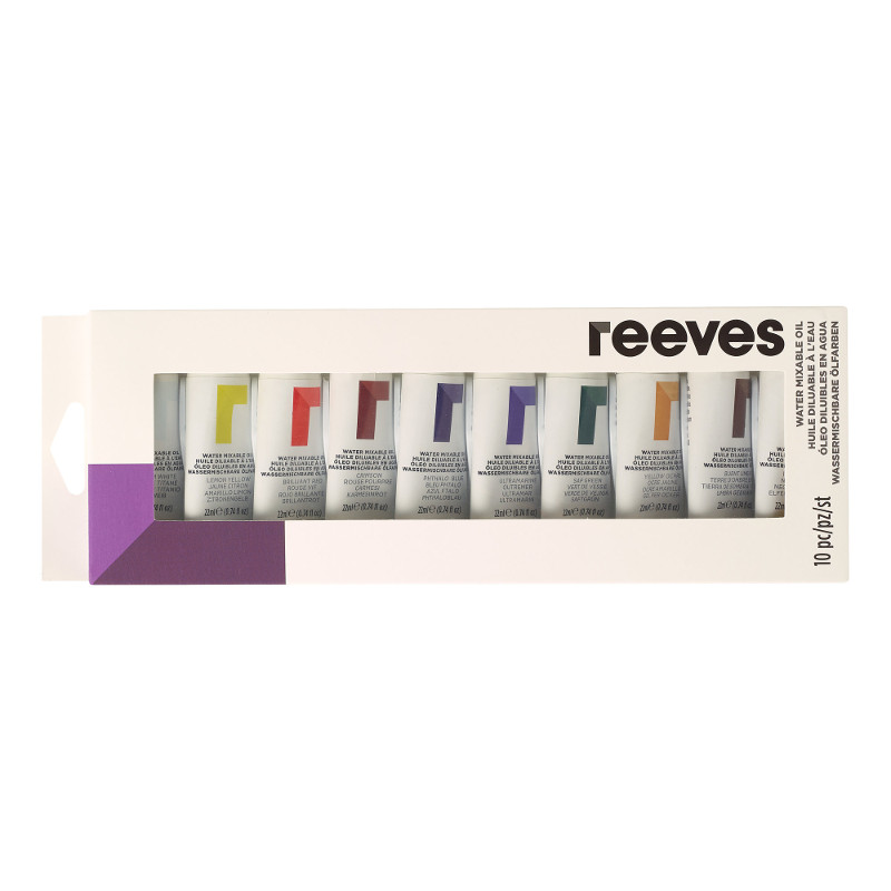 Oljefärgset (Vattenlöslig) Reeves 10 x 22 ml tubset