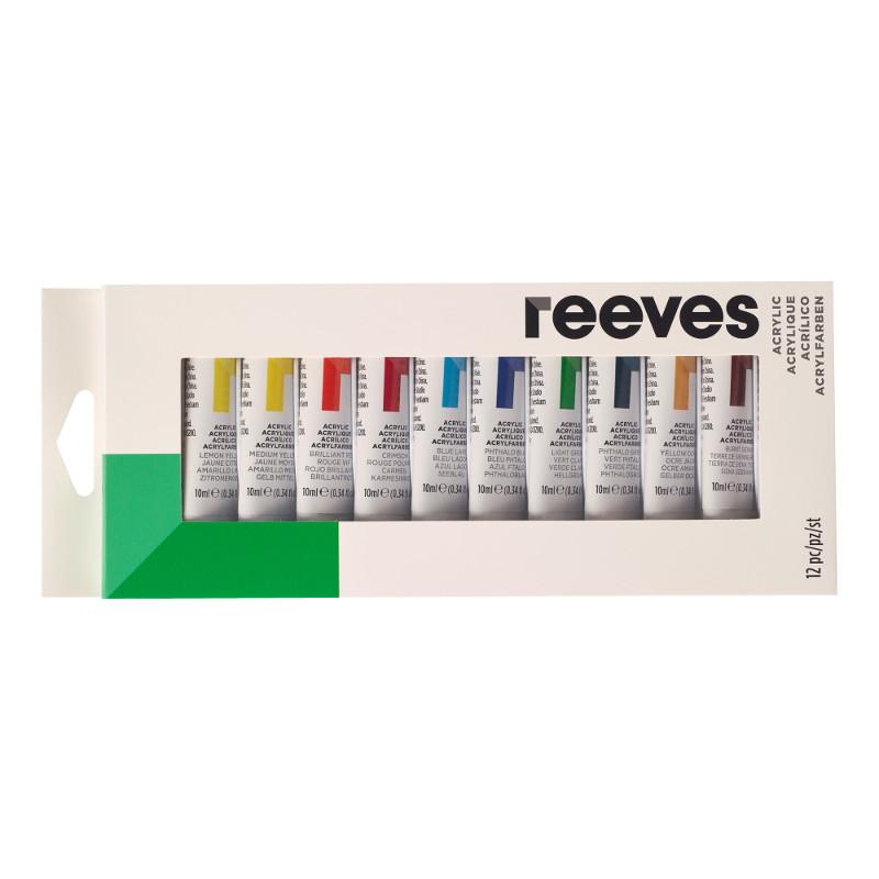 Akrylfärgset Reeves Acrylic Set 12X10 ml