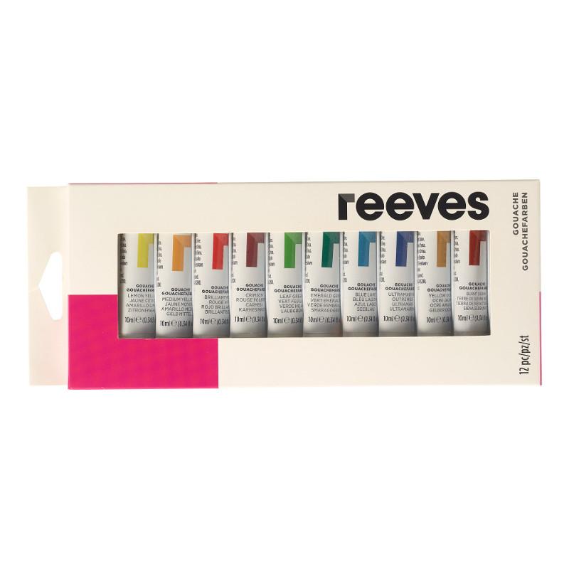Gouachefärgset Reeves Gouache set 12x10 ml (6F)