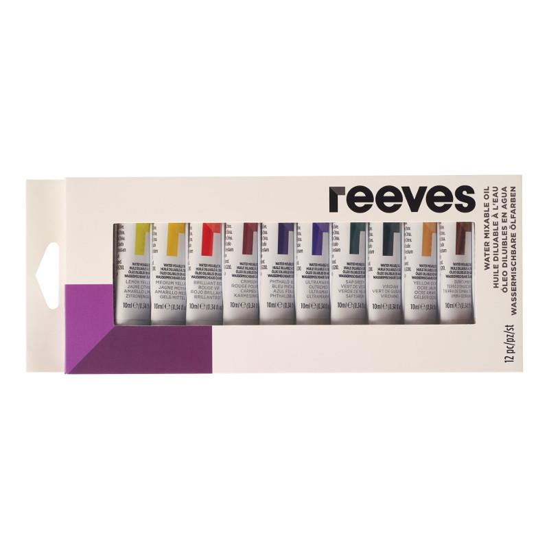 Oljefärgset (Vattenlöslig) Reeves 12x12 ml tubset (6F)