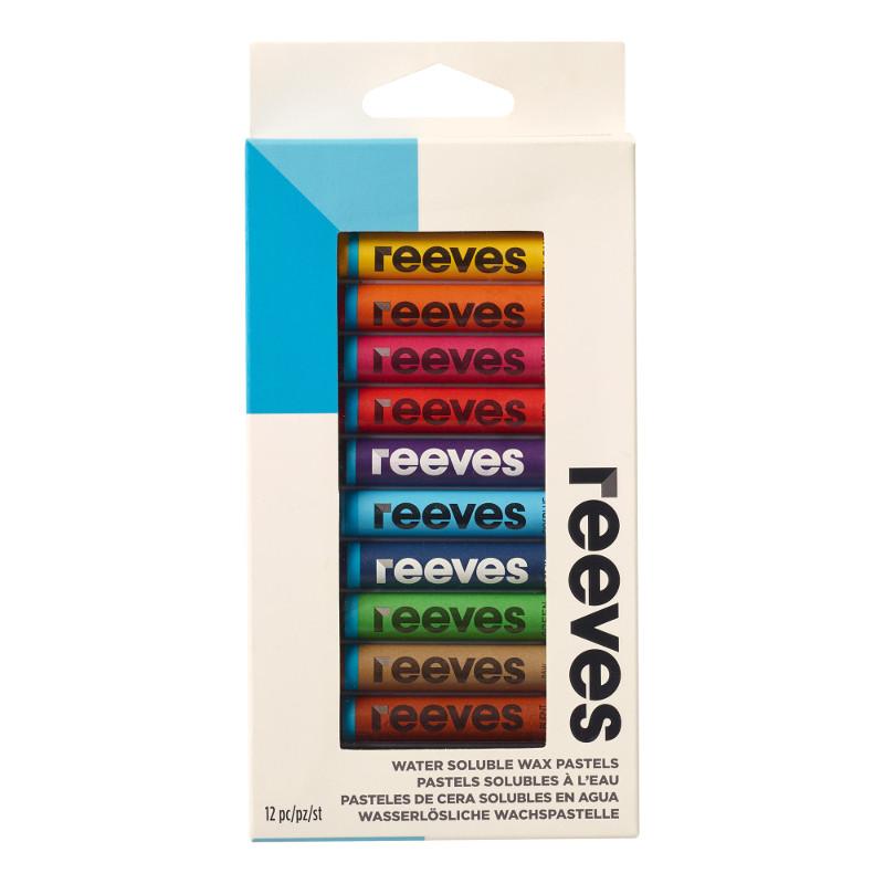 Pastellkritset Reeves Vattenlösligt vaxkritset 12 blister (6F) utgår