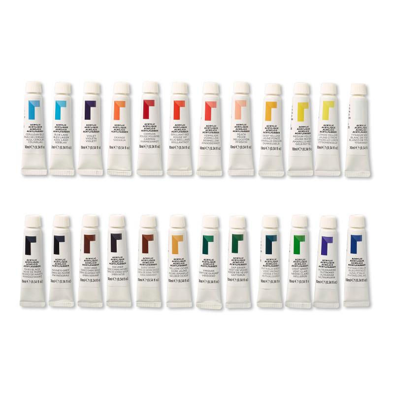Akrylfärgset Reeves Acrylic Set 24x10 ml