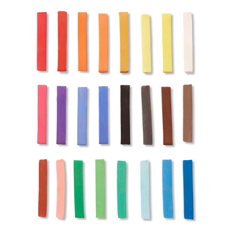Pastellfärgset Reeves Torrpastell 24 st    (6F)