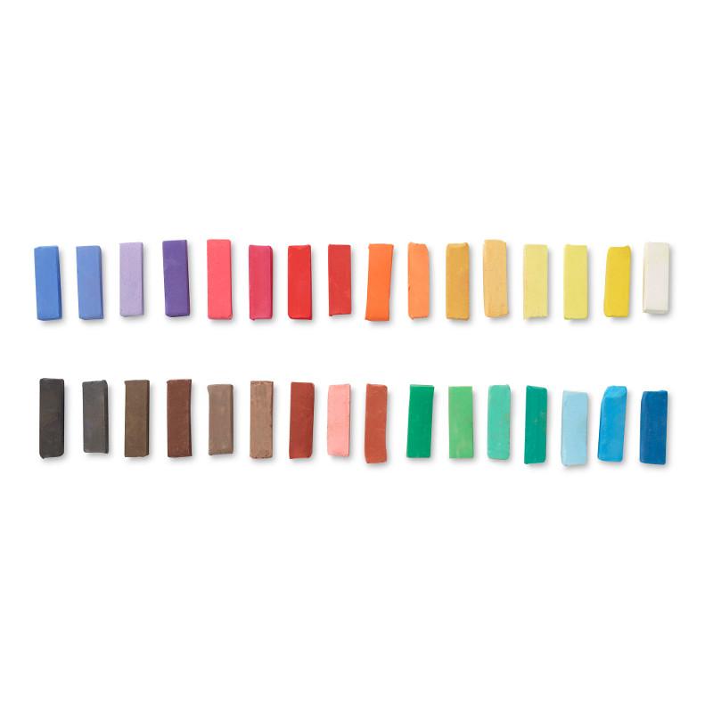 Pastellfärgset Reeves Torrpastell 32 st halva pasteller (6F)