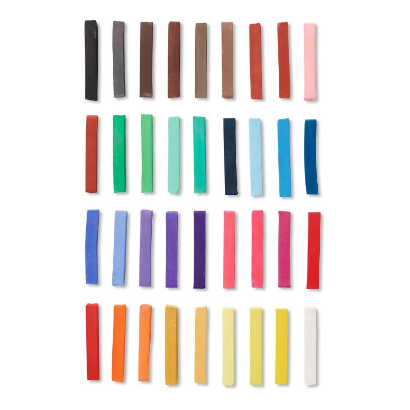 Pastellfärgset Reeves Torrpastell 36 st (6F)