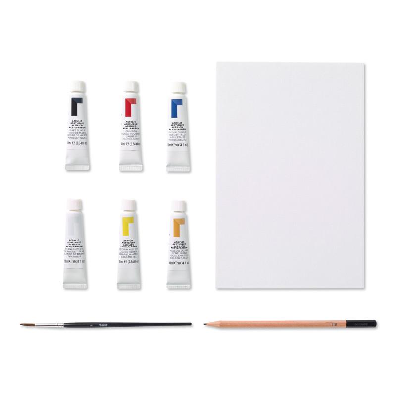 Akrylfärgset Reeves Intro set 6 tuber
