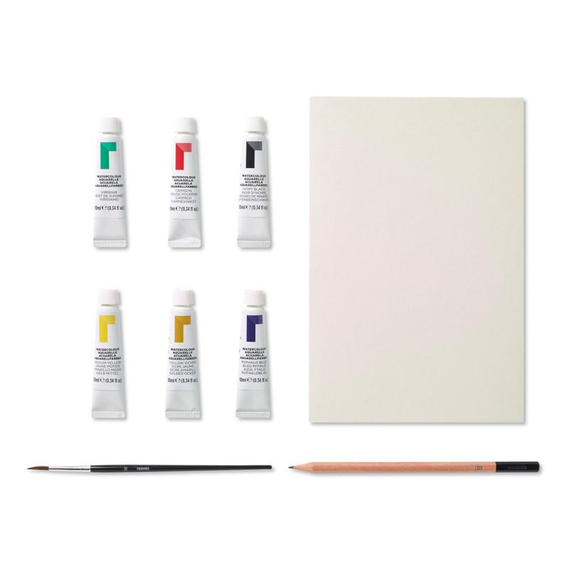 Akvarellset Reeves Akvarell tubset, start (6F)