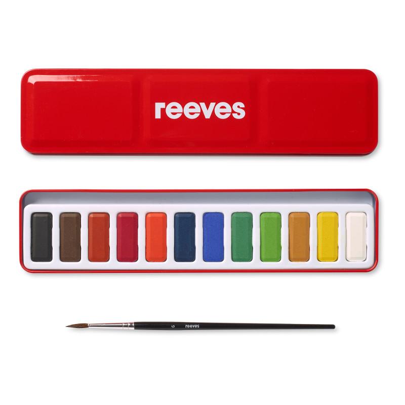 Akvarelllåda Reeves  metall 12 färger (6F)