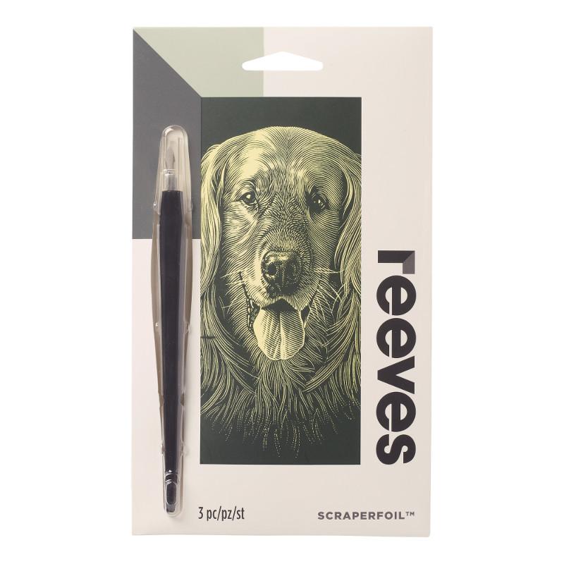 Skrapkonst Reeves 18x11cm Guld Hund PPCF64 (12F)