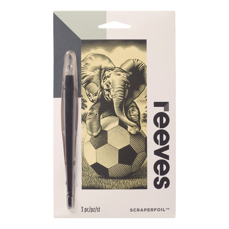 Skrapkonst Reeves 18x11cm Guld Elefant PPCF65 (12F)