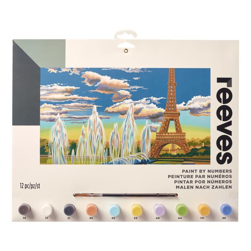 Måla efter nummer Reeves 30x40cm Eiffel Tower PL129 (6F)