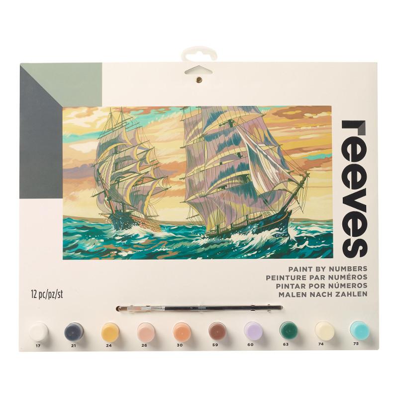 Måla efter nummer Reeves 30x40cm Segelfartyg PL121 (6F)