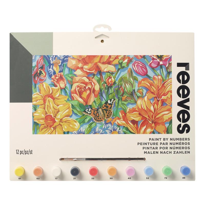Måla efter nummer Reeves 30x40cm Floral PL123 (6F)