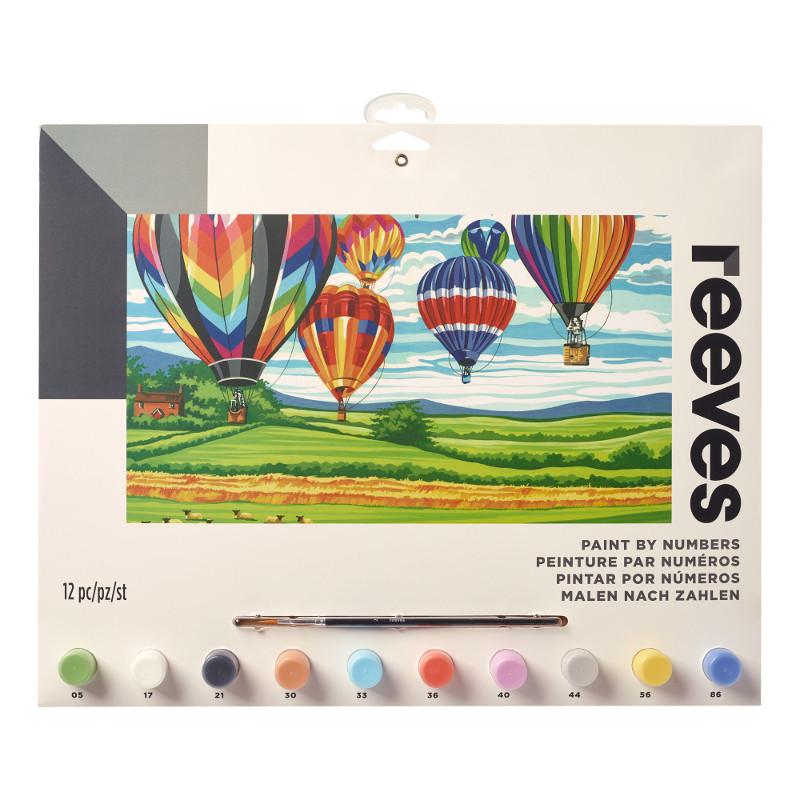 Måla efter nummer Reeves 30x40cm Hot air ballons PL124 (6F)