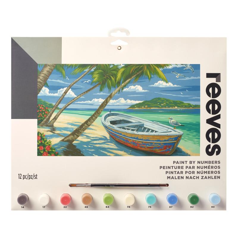 Måla efter nummer Reeves 30x40cm Tropical beach PL111 (6F)