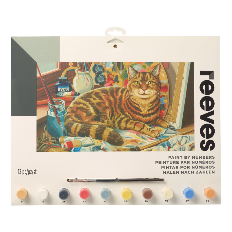 Måla efter nummer Reeves 30x40cm Resting Cat  PL112 (6F)