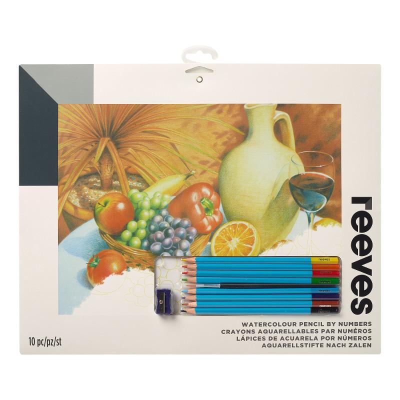 Måla efter nummer Reeves 30x40cm Färgpennor Frukt PPWP6 (6F)