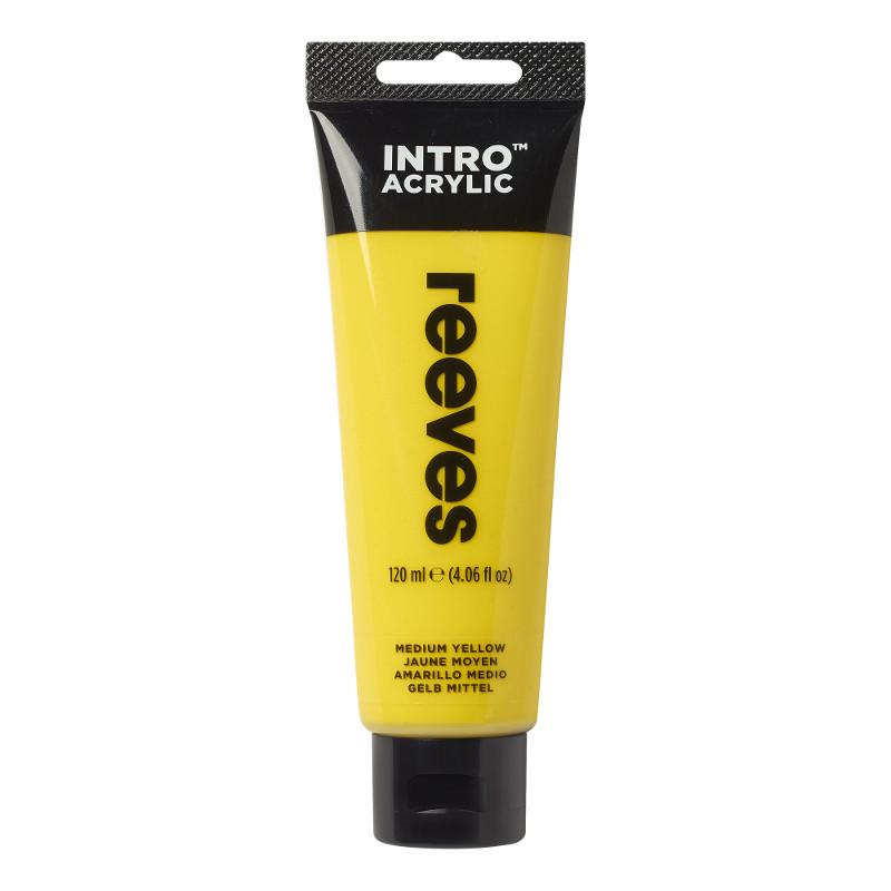 Akrylfärg Reeves Intro 120 ml Medium Yellow 120 (5F)