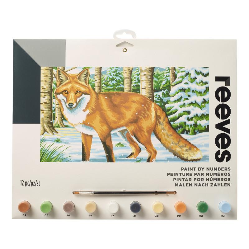 Måla efter nummer Reeves 30x40cm Snowy fox PL207 (6F)
