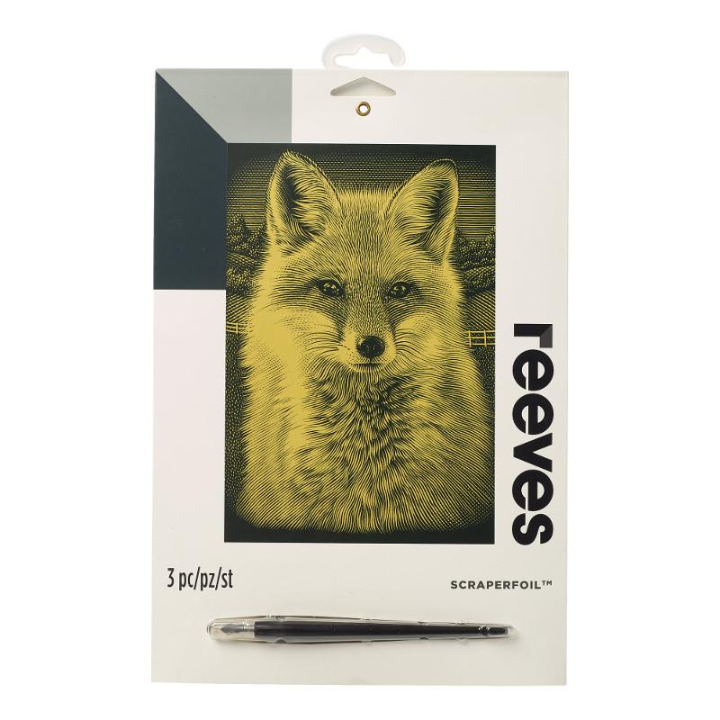 Skrapkonst Reeves 20x25cm Guld Fox PPCF67 (6F)