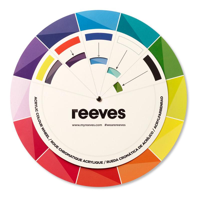 Färgsnurra Reeves Acryl (6F)