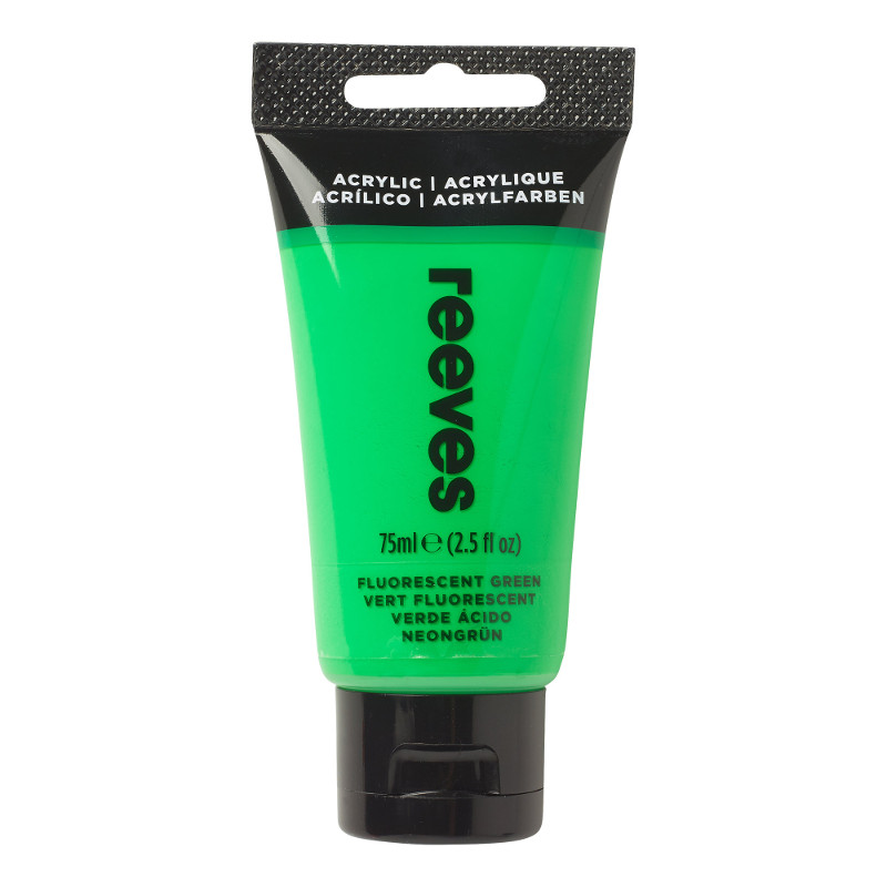 Akrylfärg Reeves 75ml Fluorescent green (5F)