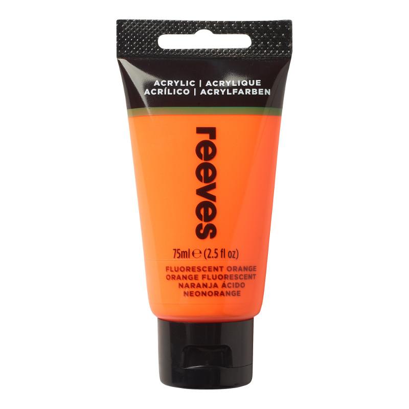 Akrylfärg Reeves 75ml Fluorescent orange (5F)