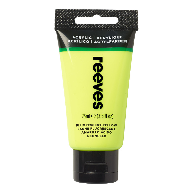 Akrylfärg Reeves 75ml Fluorescent yellow (5F)