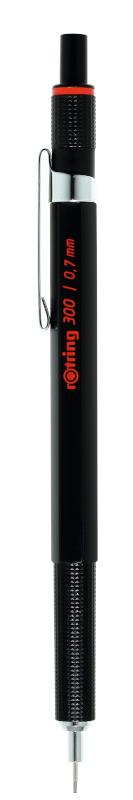 Rotring 300 Black MP 0,7 Tuck (12F)