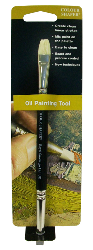 Colour Shaper Double Ended Oil Brush Tool, Size 6