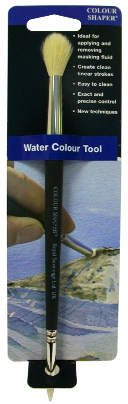 Colour Shaper Double Ended Watercolour Brush Tool, Size 2