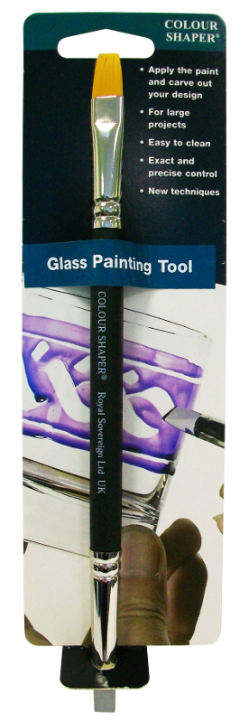 Colour Shaper Double Ended Glass Painting Tool, Size 6 UTGÅR