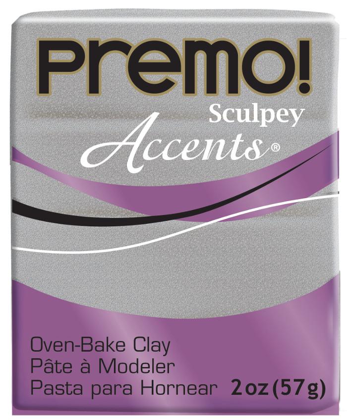 Lera Premo Sculpey -- White Gold Glitter Accents  57g  PE02 5132 (5F)