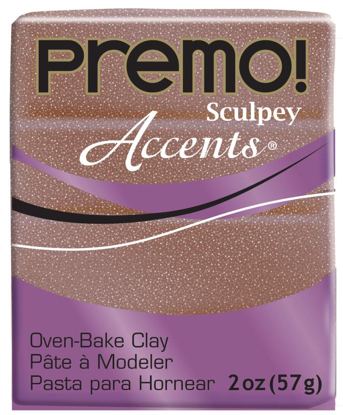 Lera Premo Sculpey -- Rose Gold Glitter Accents  57g  PE02 5135 (5F)