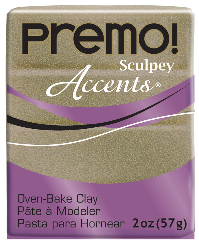 Lera Premo Sculpey -- Yellow Gold Glitter Accents  57g  PE02 5147 (5F)