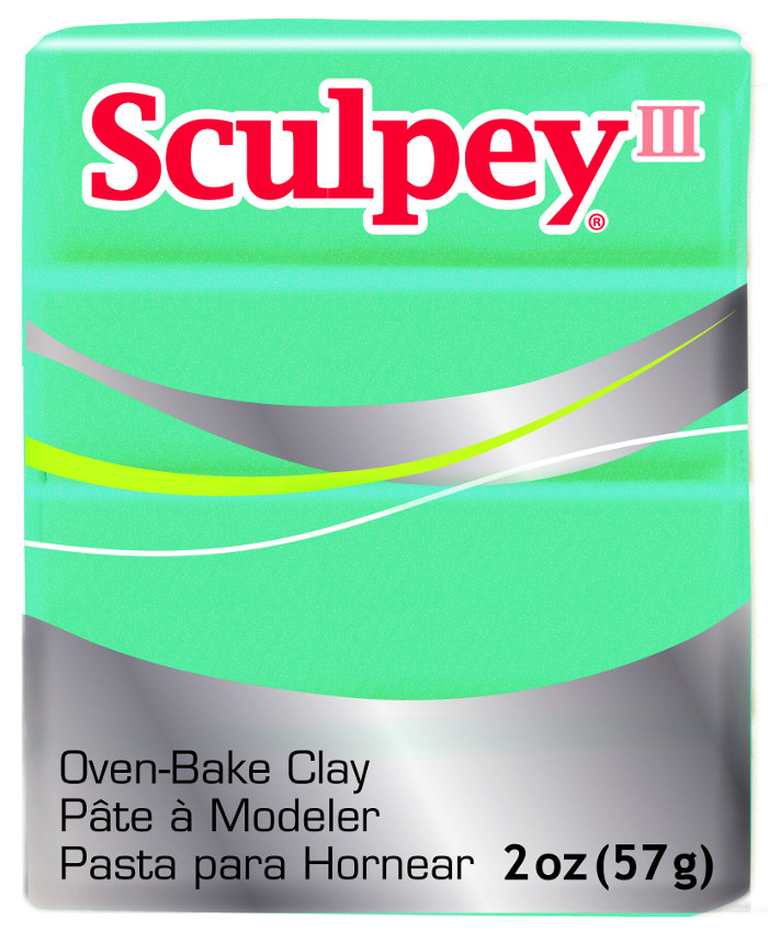 Lera Sculpey III -- Teal Pearl 57g  S302 538  (5F)