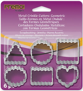 Lera Premo Fashion Metal Crinkle Cutters, 6 pc