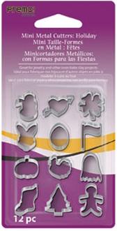 Lera Premo Fashion Mini Metal Cutters: Holiday, 12 pc