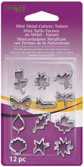 Lera Premo Fashion Mini Metal Cutters: Nature, 12 pc