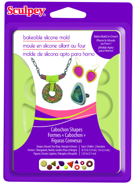 Lera Sculpey Bakeable Mold Cabochon Shapes