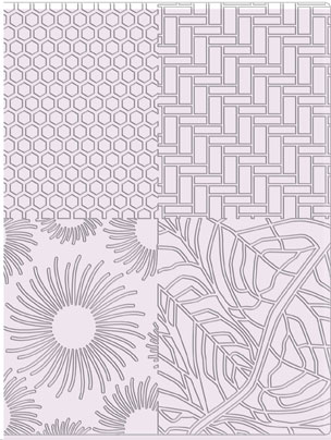Lera Verktyg  Sculpey Texture sheet Landscape ASTM007 (4F)