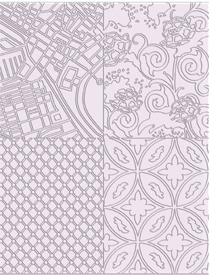 Lera Verktyg  Sculpey Texture sheet Edgy  ASTM009 (4F)