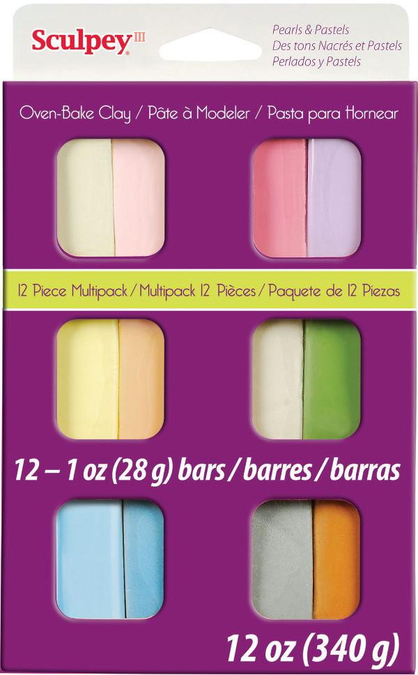 Lera Sculpey III Pastel Multi Pack, 12 X 1 Oz.  S3VMP-6 (3F)