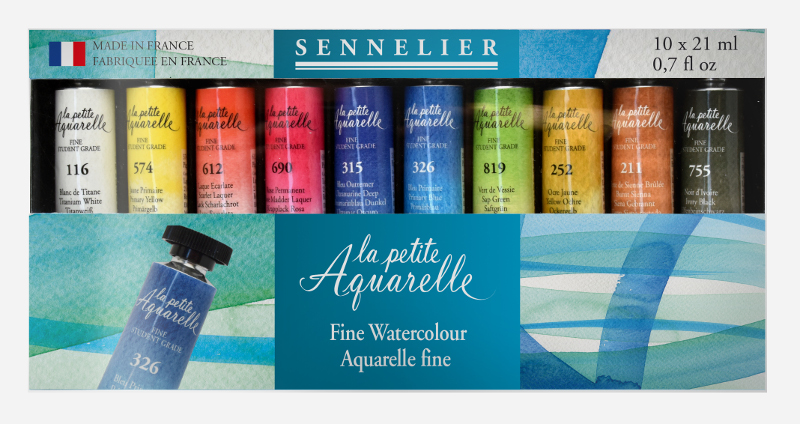 Akvarellset Sennelier la petite Aquarelle 10x21ml tuber
