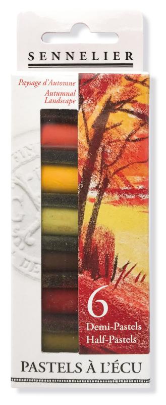 "Mjukpastell Sennelier Cardboard box - 6 1/2 pastel ""à lécu"" - Autumnal Landscape"