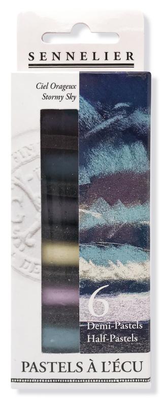 "Mjukpastell Sennelier Cardboard box - 6 1/2 pastel ""à lécu"" - Stormy Sky"